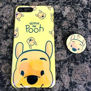 NEW Winnie the Pooh Phone Case with Popsocket